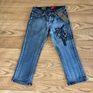 NWTS Pazzo embroidered jeans bird size 3/4 sweet